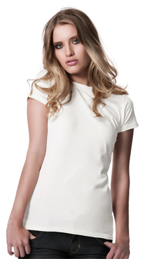 ... : Earth Positive Womens Organic Slim Fit Jersey T-Shirt (EP 04
