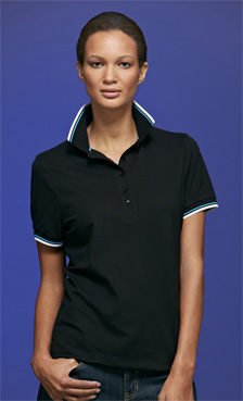 James&Nicholson Ladies Coldblack Polo JN965