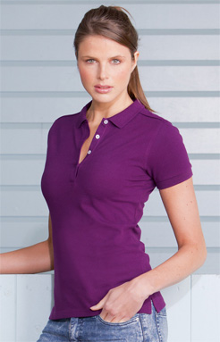 Russsell Ladies Tretch Poplo 566F purple