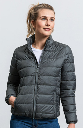 Russell Ladies Hooded nano Jacket 440F iron grey