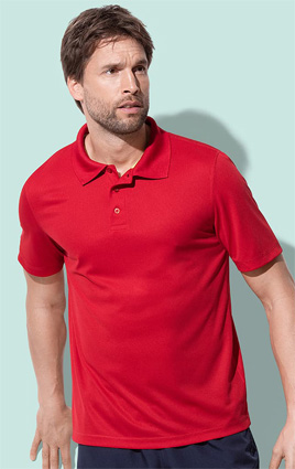 Stedman Active 140 Polo, ST8450 crimson red