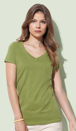 Stedman Janet Organic V-Neck ST9310 earth green